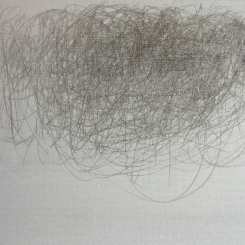 The Slap, 2011, silverpoint on canvas